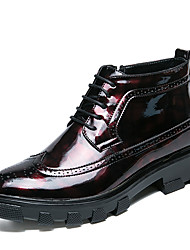 Недорогие -Муж. Fashion Boots Полиуретан Наступила зима На каждый день / Английский Ботинки Ботинки Черный / Красный / на открытом воздухе / Офис и карьера / Армейские ботинки