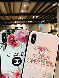 Недорогие -Кейс для Назначение Apple iPhone XS / iPhone XR / iPhone XS Max Ультратонкий / С узором Кейс на заднюю панель Слова / выражения / Цветы ТПУ