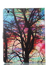 Недорогие -чехол для apple ipad 4/3/2 кошелек / визитница / с подставкой для всего тела чехлы бабочка / дерево / цветок искусственная кожа