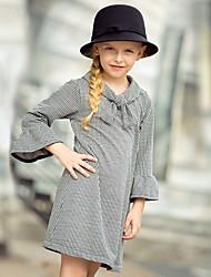 povoljno -Djeca Djevojčice Karirani uzorak Iznad koljena Haljina Crn