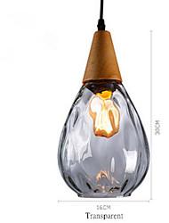 Недорогие -подвесной светильник из цельного дерева и стекла ресторан в современном стиле