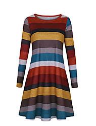 povoljno -Žene Osnovni Korice Haljina Color block Iznad koljena