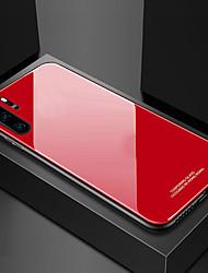 Недорогие -Кейс для Назначение SSamsung Galaxy Samsung Note 10 / Galaxy Note 10 Plus Защита от удара / Ультратонкий Кейс на заднюю панель Однотонный Закаленное стекло