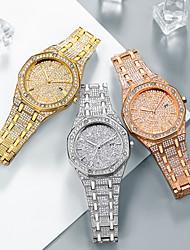 Недорогие -Муж. Нарядные часы Японский Кварцевый Нержавеющая сталь Серебристый металл / Золотистый / Розовое золото Секундомер Новый дизайн Светящийся Аналоговый Роскошь минималист -  / Два года