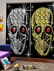 Недорогие -3d печать партия хэллоуин тема золотой и серебряный череп фон шторы утолщение затемнения пользовательские шторы для дома decro