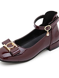Недорогие -Девочки Детская праздничная обувь Полиуретан Обувь на каблуках Большие дети (7 лет +) Черный / Красный / Винный Лето