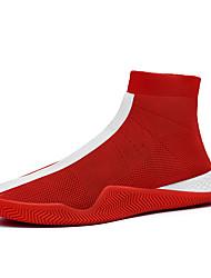 Недорогие -Муж. Комфортная обувь Tissage Volant Лето / Осень Спортивные / На каждый день Кеды Для прогулок Дышащий Черный / Белый / Красный / на открытом воздухе