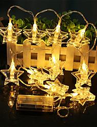 Недорогие -1,5 м Гирлянды 10 светодиоды EL 1 адаптер питания x 2A Тёплый белый / Разные цвета Творчество / Новый дизайн / Для вечеринок Аккумуляторы AA 1 комплект