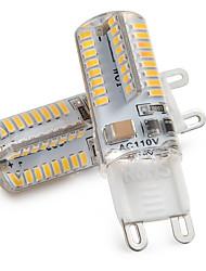 Недорогие -zdm 2шт g9 светодиодные лампочки 3w 30w галогенный эквивалент 250lm 64 светодиодов нерегулируемые лампочки g9 для домашнего освещения ac220v / ac110v