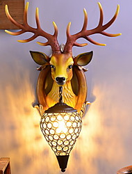 Недорогие -Творчество Северный стиль Настенные светильники Спальня / В помещении Смола настенный светильник 220-240Вольт 40 W