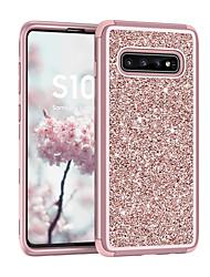 Недорогие -Кейс для Назначение SSamsung Galaxy Galaxy S10 / Galaxy S10 Plus Защита от удара / Сияние и блеск Кейс на заднюю панель Сияние и блеск ПК