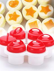 Недорогие -6шт набор различных цветов формы яйцо браконьер яйцо инструменты антипригарным силиконовые яйца чашка кухонные гаджеты