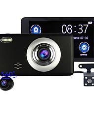 Недорогие -автомобильный рекордер 3 объектива 360 градусов вращение передний задний встроенный двойной 1080p трехсторонняя камера