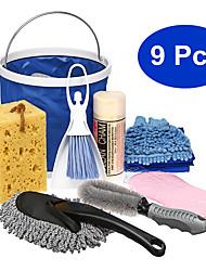 Недорогие -9 шт. / Комплект экстерьер&усилитель; Салон для мойки салона автомобиля Набор для чистки из микрофибры