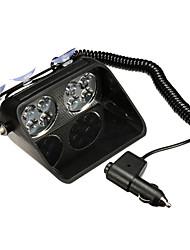 Недорогие -1 шт. Светодиодное лобовое стекло сигнальная лампа автомобиля вспышка полиции аварийный сигнал стробоскопа ветровое стекло лампы 12 В