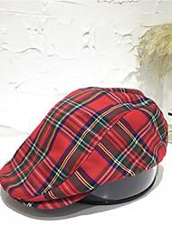 Недорогие -Универсальные Активный Классический Симпатичные Стиль Вязаная шапочка Широкополая шляпа Хлопок,Контрастных цветов Все сезоны Винный Темно синий Бежевый