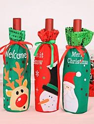 Недорогие -3 шт. Рождественские аксессуары бутылка вина санта-клаус снеговик крышка от бутылки комплект новогодняя сумка рождественский ужин рождественские украшения