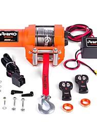 Недорогие -12v электрическая лебедка с монтажной пластиной троса беспроводной пульт дистанционного управления 3000lb сверхмощный для прицепа ATV лодка