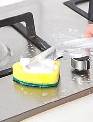 Недорогие -2шт блюдо палочка чище губка замена головки мыла диспенсер скруббер очиститель блюдо палочка щетка аксессуары