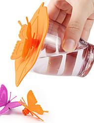 Недорогие -Симпатичные бантом крышки чашки силиконовые крышки чашки термостойкие силиконовые крышки разных цветов