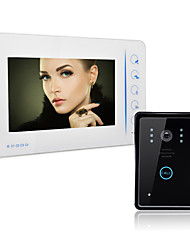 Недорогие -проводной видеодомофон 7 дюймов, громкая связь 800 * 480 пикселей, домофон один к одному, домофон, 1/4 дюйма, цветной датчик cmos, 800x480 наружный блок, настенный монтаж, громкая связь