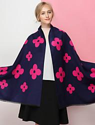 Недорогие -Жен. Классический Прямоугольный платок С принтом / Контрастных цветов