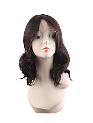 cheap -Synthetic Lace Front Wig Curly Style Middle Part Lace Front Wig Synthetic Hair 28 inch Women's Soft / Synthetic / Natural Brown Wig Medium Length Natural Wigs