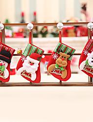 Недорогие -Творческие висячие рождественские чулки для украшения дома / новогодние украшения