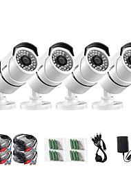Недорогие -Zosi 4 шт. / лот 1080 P HD-TV камеры видеонаблюдения 100 футов ночного видения на открытом воздухе ли водонепроницаемый комплект камеры видеонаблюдения