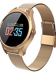 Недорогие -M35 SmartWatch из нержавеющей стали BT Поддержка фитнес-трекер уведомить / измерения артериального давления / ЭКГ + ppg Умные часы для телефонов Samsung / Iphone / Android
