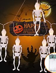 Недорогие -3 м скелет человек гирлянды 20 светодиодов теплый белый хэллоуин дом декоративные 3 в 1 комплект