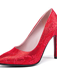 cheap -Women's Heels Stiletto Heel Pointed Toe PU Business / British Spring &  Fall Red / Pink / Wedding / Party & Evening