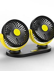 Недорогие -автомобильный мини-вентилятор 12v / 24v электрический двойной головкой USB интерфейсный вентилятор