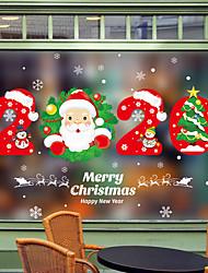 Недорогие -Рождество милый мультфильм оконная пленка&стикеры ampampamp декор животных / с рисунком праздник / характер / геометрические пвх (поливинилхлорид) стикер окна