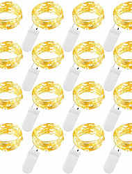 Недорогие -2м Гирлянды 20 светодиоды SMD 0603 Тёплый белый / Белый / Синий Водонепроницаемый / Для вечеринок / Декоративная Аккумуляторы 12шт