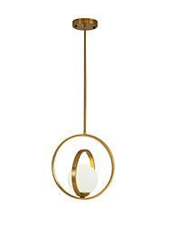 Недорогие -Круглый Подвесные лампы Рассеянное освещение Электропокрытие Металл Стекло Новый дизайн 110-120Вольт / 220-240Вольт