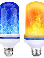 Недорогие -1 шт. Кукурузные светильники новый светодиодный настенный светильник с эффектом пламени для вечеринки в саду рождественские украшения хэллоуин e27 b22 3d фейерверк синий желтый 110-240 В