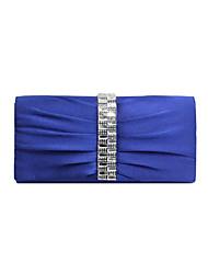 Недорогие -Жен. Кристаллы Полиэстер Вечерняя сумочка Сплошной цвет Небесно-голубой / Розовый / Миндальный