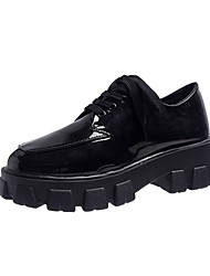 abordables -Femme Oxfords Creepers Bout rond Polyuréthane Simple Automne Noir
