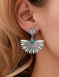 billige -Dame Øredobb geometriske Botanisk øredobber Smykker Sølv Til Ferie 1 par