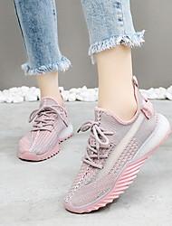 Недорогие -Жен. Спортивная обувь На плоской подошве Круглый носок Полотно Беговая обувь Лето Желтый / Зеленый / Розовый