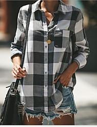 billige -Skjorte Dame - Hundetannmønster, Trykt mønster Svart