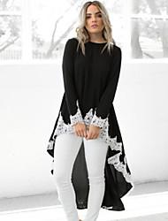 Недорогие -Жен. Блуза Контрастных цветов Черный