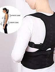 Недорогие -унисекс с регулируемой осанкой, коррекция пояса, корректор спины, подтяжка, поясничный (черный)