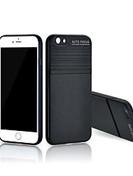 billige -Etui Til Apple iPhone 6s Plus / iPhone 6s / iPhone 6 Plus Støtsikker Bakdeksel Ensfarget PU Leather / TPU