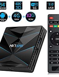 Недорогие -HK1 Super Smart TV Box Android 9.0 Rockchip RK3318 Quad Core 64 4 К 4 ГБ 32 ГБ 2.4 г 5 г Wi-Fi BT4.0 HD медиаплеер