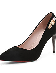 cheap -Women's Heels Stiletto Heel Pointed Toe Rhinestone PU Business / British Spring &  Fall Black / Red / Blue / Wedding
