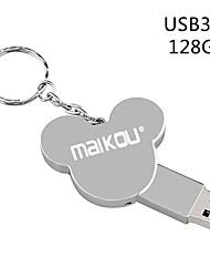 Недорогие -maikou 128 г металл серебро usb3.0 флэш-накопитель cute u дисковод перьевой флеш-накопитель флэш-карта памяти
