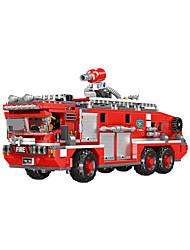 Недорогие -Конструкторы 720 pcs Пожарные машины совместимый Legoing Очаровательный Все Игрушки Подарок