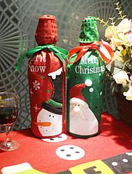 Недорогие -творческий вышитый старик снеговик рождественское вино подарочный пакет с блестками набор шампанского бутылки